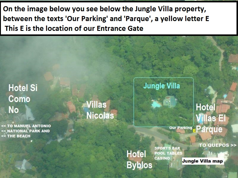 The last 300 feet before you reach the Jungle Villa